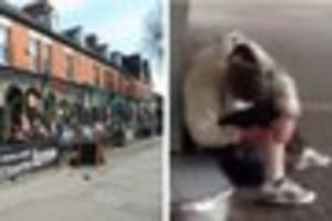 watch shocking footage of man 'injecting drugs' in princes...