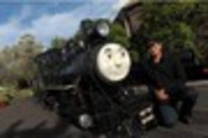 thomas the tank engine is choo-chooing his way into cleethorpes