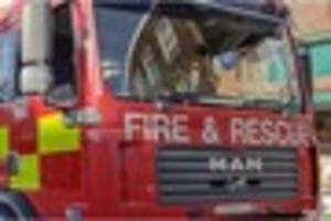 a snack van burst into flames in sevenoaks this morning
