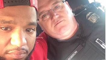 This US police officer gave a free lift to a grieving man... instead of arresting him