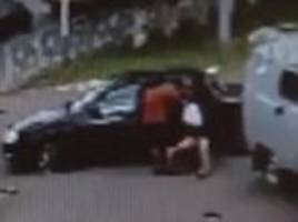 CCTV shows moment Russian schoolgirl is dragged off the street in bridal kidnapping