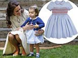 Our Pepa princess: Kate dresses her beaming daughter in a £74 frock from one of her favourite designers as Charlotte steals the show in Canada