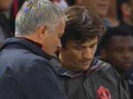 jose mourinho in angry exchange with coach giovanni cerra as paul pogba is given wrong pre-match instructions