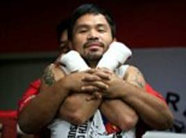 manny pacquiao hits the gym ahead of comeback clash with jessie vargas... as trainer warns filipino is 'ridiculously stronger' than wbo champion