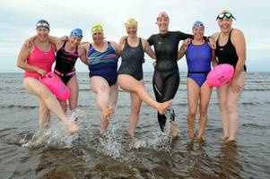 grieving sister rallies loved ones to brave freezing waters for 16-mile fundraising swim