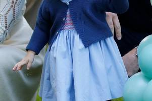 lovely bubbly: prince george and princess charlotte steal the show at garden party