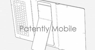 samsung patents foldable tablet with built-in keyboard