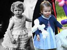 princess charlotte resemblance to the queen as a child is revealed