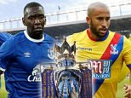 Everton vs Crystal Palace, Premier League LIVE: Yannick Bolasie plays host to ex-club in Friday night clash