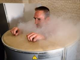 live: we're trying cryotherapy, the crazy treatment that plunges you to -100c and makes your body think its dying