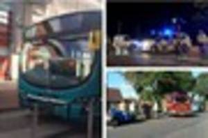 crashes in warwick avenue, london road and kenilworth avenue,...