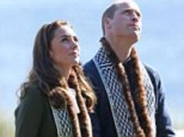 prince william and kate middleton wear scarves trimmed with sea otter fur