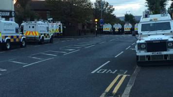 north belfast: orange order parade due to take place