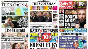 Scotland's papers: Boxer's death and charities' cash struggle
