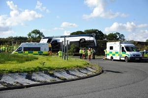 breaking: one dead after rangers supporters bus crash