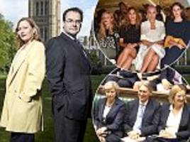 what happened when our man in westminster quentin letts swapped jobs with inspire's sarah mower? they found the true meaning of power dressing in . . . the front row face off