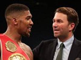 eddie hearn optimistic about potential anthony joshua-wladimir klitschko clash before the end of the year