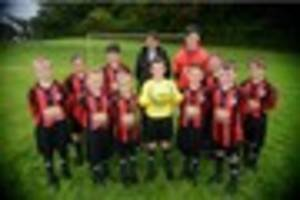 school football club given first sponsor and a new kit