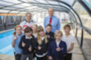 Cambridge news published cambridgeshire school opens revamped swimming pool after one news Swimming pools in cambridge uk