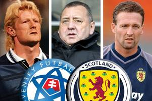 slovakia vs scotland: colin hendry, paul lambert and jimmy calderwood pick their sides to keep our world cup dream alive