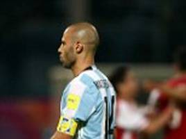 javier mascherano insists 'i'm very worried' following argentina's poor form in world cup qualifying mission