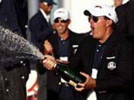 cocky phil mickelson takes cheeky dig at his own team-mates when asked about 2018 ryder cup