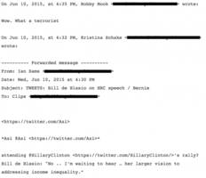 Clinton Aide in Email on de Blasio Not Endorsing Right Away: 'Wow What a Terrorist'
