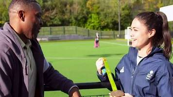 get inspired: darren campbell takes sam quek back to her first hockey club