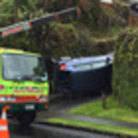 Man seriously injured by rolling car