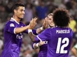 real betis 1-6 real madrid: raphael varane, karim benzema, marcelo, isco and cristiano ronaldo net in rout