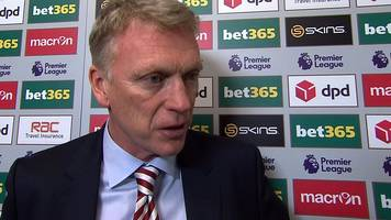 stoke city 2-0 sunderland: david moyes wants 'all-round improvement'