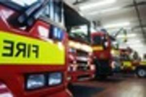 Staffordshire Fire and Rescue called out to deal with tent blaze...