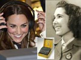 kate middleton pays tribute to grandmother who helped foil hitler at bletchley