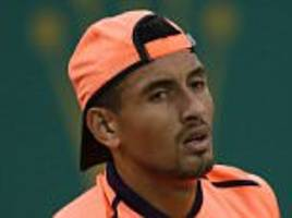 nick kyrgios hit with suspension... but could miss just three weeks if he sees psychologist