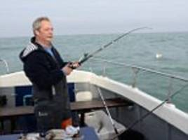 nigel farage takes to the channel for a day's fishing