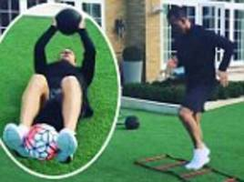 John Terry shares video of backyard training session as Chelsea captain fights for return to full fitness
