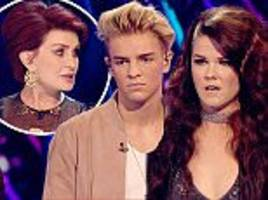 freddy parker becomes the second act to be booted off x factor... as 'confused' sharon osbourne forgets her act saara aalto's name ahead of tense sing-off