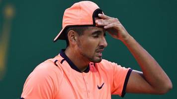 kyrgios banned for 'lacking effort'