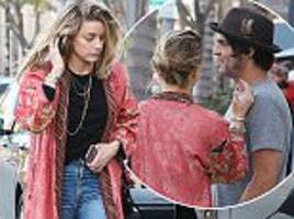 amber heard enjoys lunch with a mystery man in beverly hills