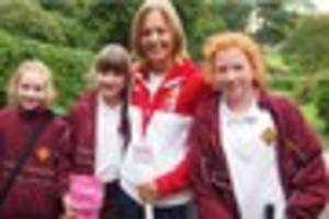 olympic hockey star inspires school pupils