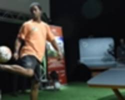 ronaldinho takes up new sport teqball as alternative olympic dream
