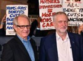 the people's carpet is deepest red: jeremy corbyn spends another night at a glitzy premiere of ken loach's new film