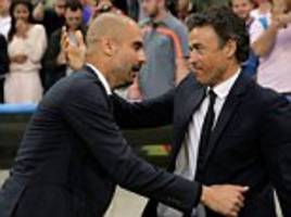 Barcelona boss Luis Enrique relishing clash with old friend Pep Guardiola