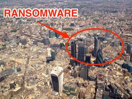 workers in london's financial centre are being bombarded with ransomware