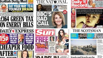 scotland's papers: rbs kremlin 'threats' and 'get shorty'