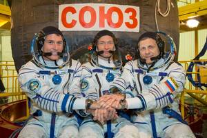 stay up late and watch three astronauts launch to the international space station