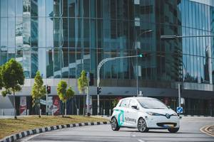 A self-driving taxi was involved in a 'minor' accident in Singapore