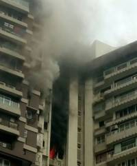 2 dead in fire in mumbai's maker towers building