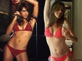 Age-defying Elizabeth Hurley looks phenomenal in a red bikini 16 years after slipping into one for Bedazzled