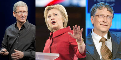Hillary Clinton considered Bill Gates and Tim Cook for Vice President